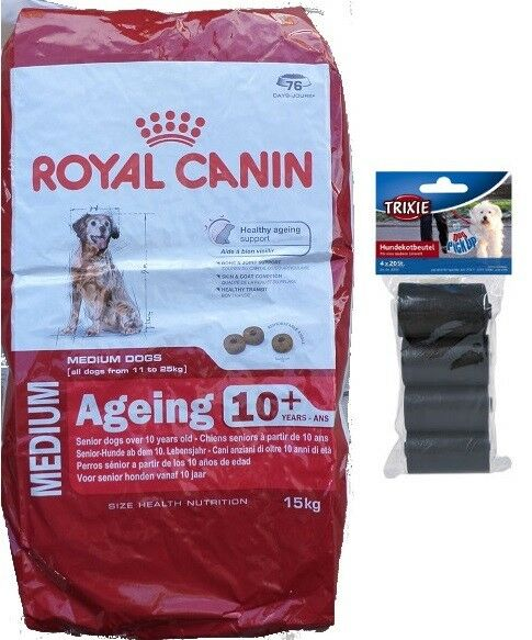 15kg  Royal Canin Medium Ageing + 10 Senior Mature  + 80 Stk. Kotbeutel