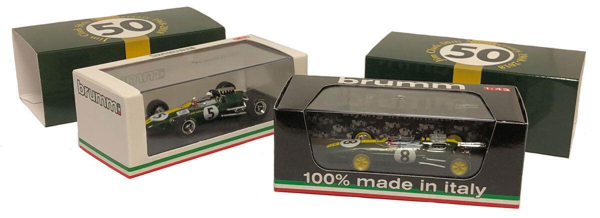 Brumm Lotus 25 1963 and Lotus 33 1965 World Champion Set - Jim Clark 1 43 Scale