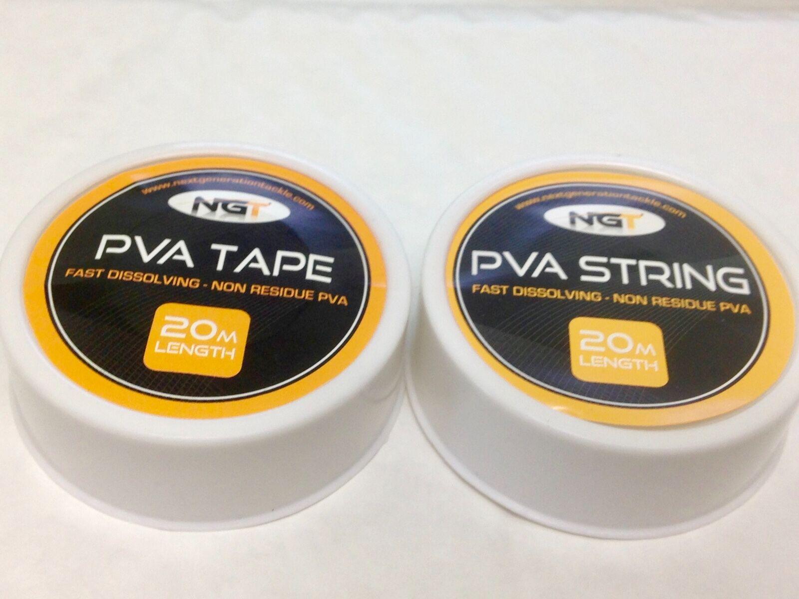 NGT Carp Fishing Bait PVA String or Tape 20M POST FREE barbel fishing tackle