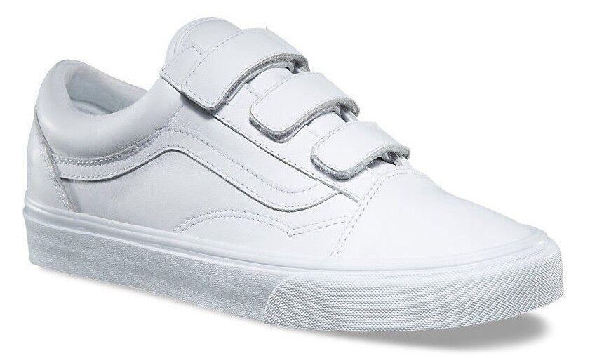 VANS OLD OLD OLD SKOOL V (MONO LEATHER) bianca STRAP SKATE scarpe SZ 11.5 Uomo NEW NIB 8ceadb