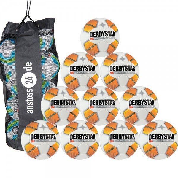 10 X Derbystar Balón de Entrenamiento - Stratos pro Tt Incl. Saco para Bolas