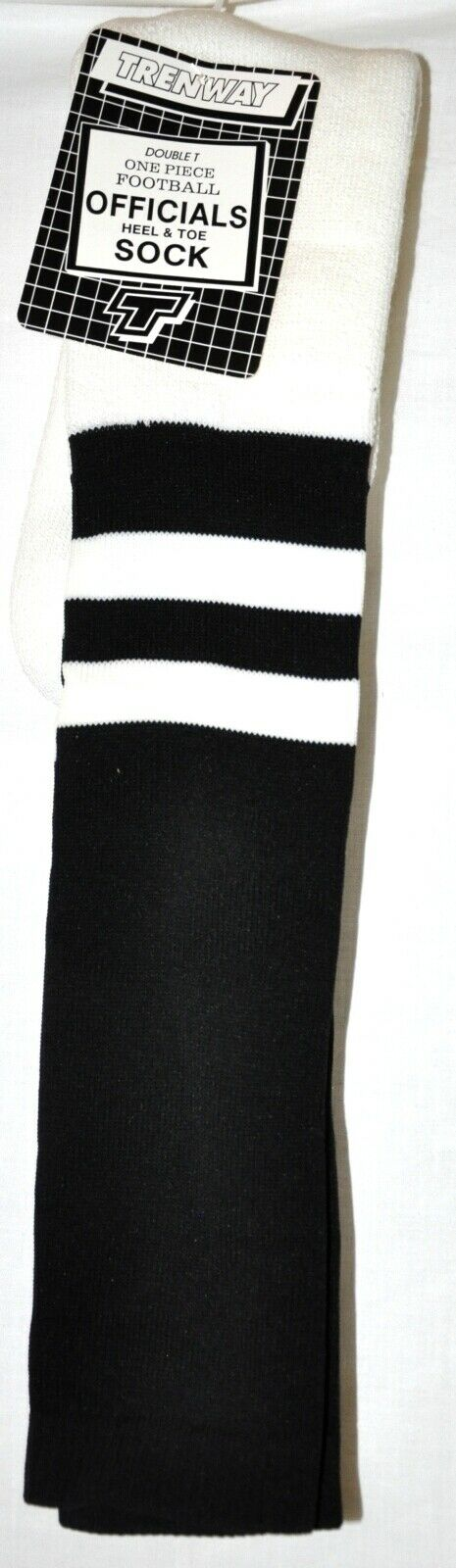 Football Official Referee Black /& White Knee High Socks Men/'s Size XL 13-15 NWT