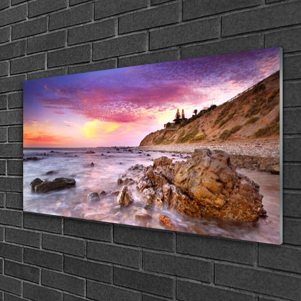Wandbilder aus Plexiglas® 100x50 Acrylglasbild Meer Steine Landschaft
