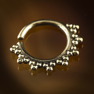 Oxidized Brass Septum Ring For Pierced Nose 1.6mm 14g Wire (Code 12)