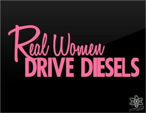 """Diesel Vinyl Decal Sticker 10/"""" Funny Diesel Girl Joke Truck Window REAL WOMEN!"""