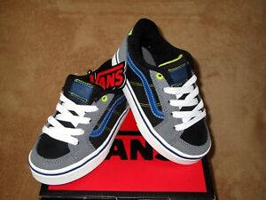 c938ae9a4d Image is loading NEW-VANS-TRANSISTOR-SHOE-PEWTER-BLUE-BLACK-YOUTH-