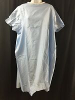 Lot Of 5 Short Sleeve Hospital Gowns Blue