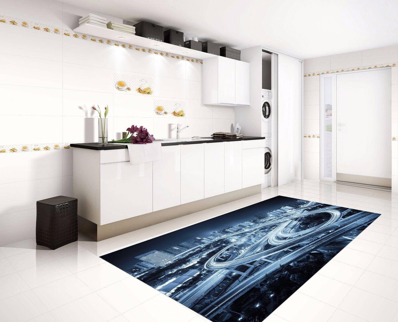 3D Highway City 82 Kitchen Mat Floor Murals Wall Print Wall AJ WALLPAPER UK Kyra