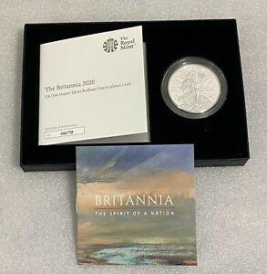 2020 Royal Mint - 1oz Silver Britannia £2 Coin - Brilliant Uncirculated Pack