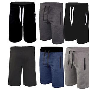 grande vendita 3f244 3bb2e Dettagli su Uomo Bermuda Shorts Pantaloncini Corti Pantaloni Tuta Sportivi  Calcio Palestra