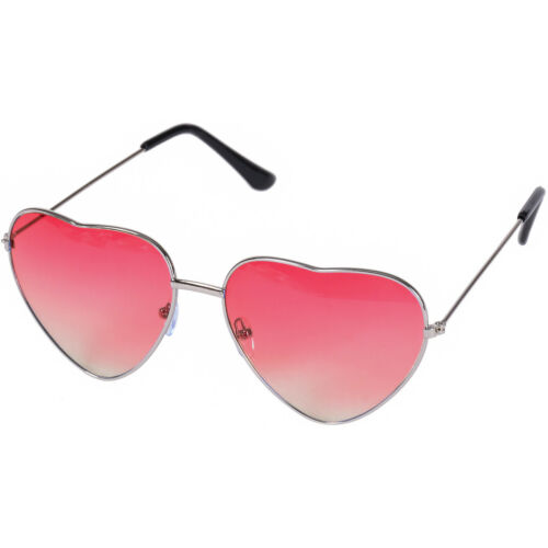 HEART SUNGLASSES LOVE SHAPED FESTIVAL SHADES HIPPY PINK RED BLACK MULTI GRADIENT