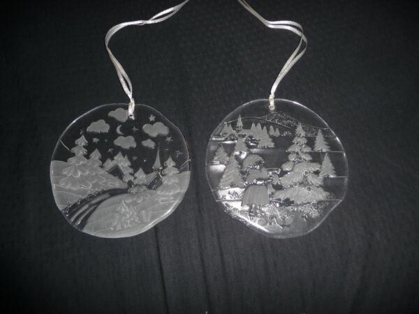 2 X Sweden - Schweden - Fensterbild - Winter - Glas Ornament - Glasbilder Gute Begleiter FüR Kinder Sowie Erwachsene