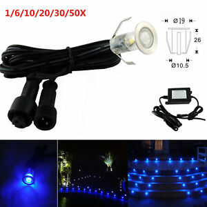 Mini-Blue-19mm-12V-Outdoor-Landscape-Garden-Path-LED-Pool-Deck-Step-Lights-Kit