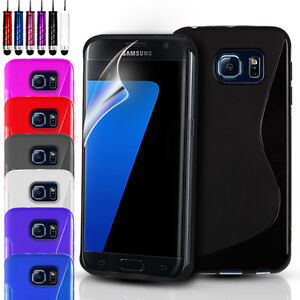 newest collection 27607 ede9a Details about S-Line Silicone Gel Case Cover For Samsung Galaxy S7 S7 Edge  & Screen Protector