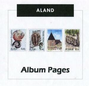Aland - Stamp Album 1984-2016 Color Illustrated Album Pages