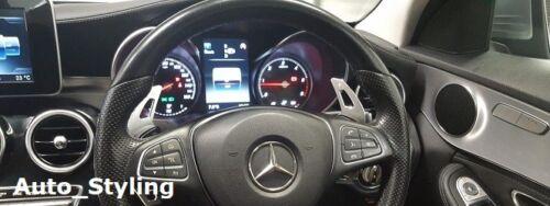 Silber Paddel Schalt Getriebe Verlängerung Drehgriffe Mercedes C-Klasse