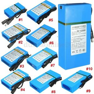 DC-12V-1800mAh-20000mAh-Rechargeable-lithium-Li-ion-Batterie-Protable-Chargeur