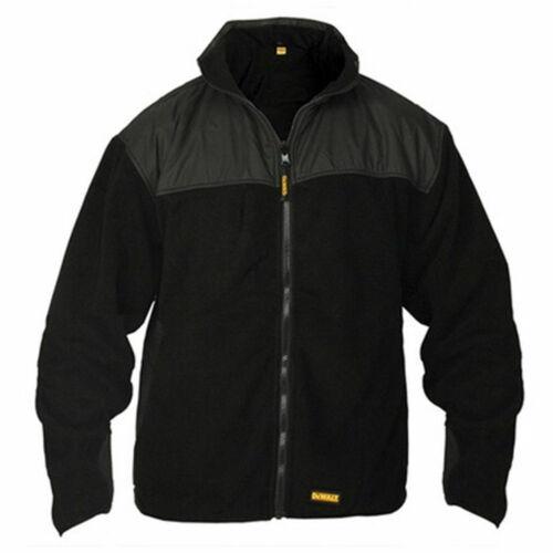 DWC9 DeWalt Mens Full Zip Warm Thermal Work Winter Fleece Coat