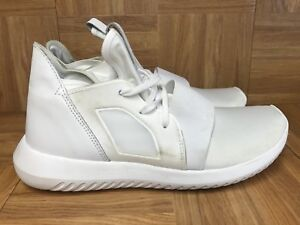 newest fc394 732af RARE🔥 Adidas Tubular Defiant All White Out Sz 9 Women's Athletic ...