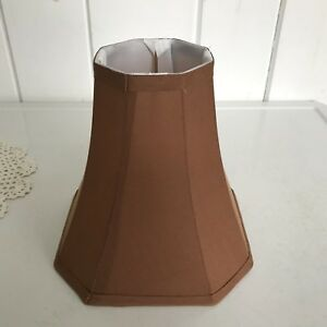 Image Is Loading Fabric Bell Shaped Lampshade Brown 7 1 2