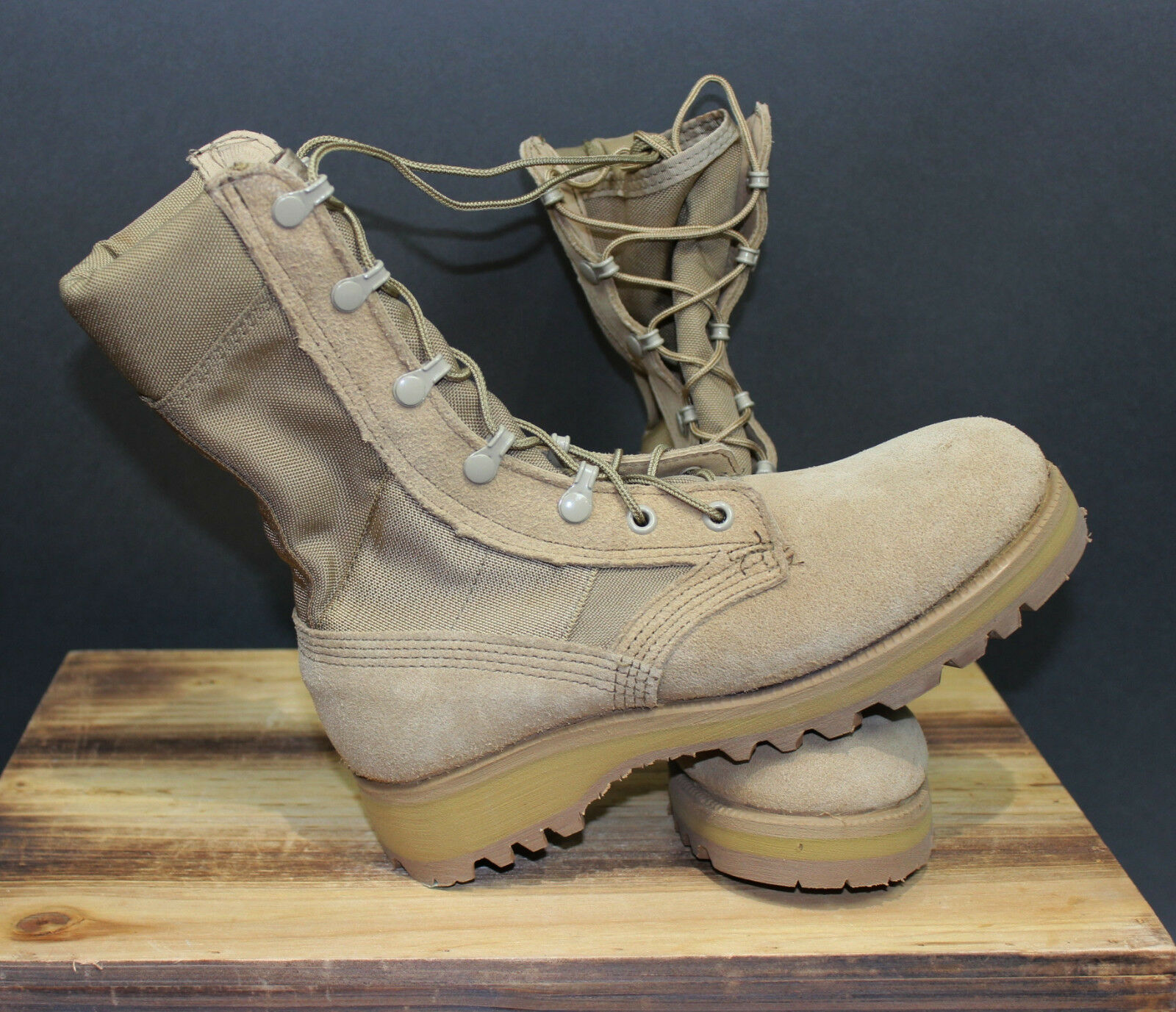 NWOT GI Genuine Issue Army Military Tan Hot Weather Military Boots