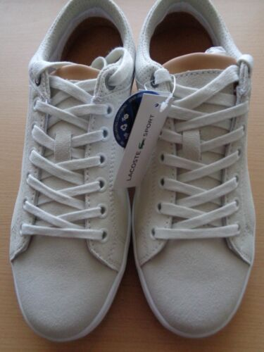Lacoste sport Straightset LUX SPM homme chaussures en cuir baskets baskets neuf boîte
