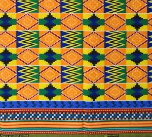 African-KENTE-Print-Hitarget-100-Cotton-Primary-Colors-Sewing-By-The-Yard