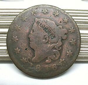 1816 Matron Head Large Cent - Old Copper Penny