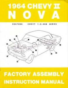 1968 Bel Aire Impala Assembly Manual Rebuild Overhaul Instructions Illustrations