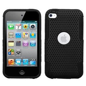Mesh-Hybrid-Case-for-iPod-Touch-4th-Gen-Black-Black