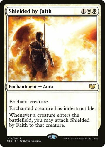 Shielded by Faith Commander 2015 NM White Rare MAGIC GATHERING CARD ABUGames