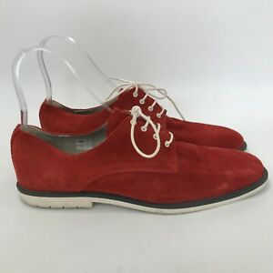 kurt geiger shoes uk 95 mens red white suede lace up