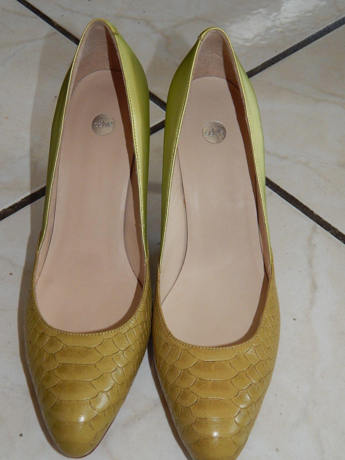 SELVE Loafers Mokassins Halbschuhe Ballerinas Handmade Gr. 38,5   Echt Leder (7)