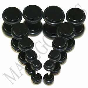 V091-Fake-Cheaters-Illusion-Plugs-4G-2G-0G-00G-7-16-034-1-2-034-Black-5-6-8-10-11-12mm
