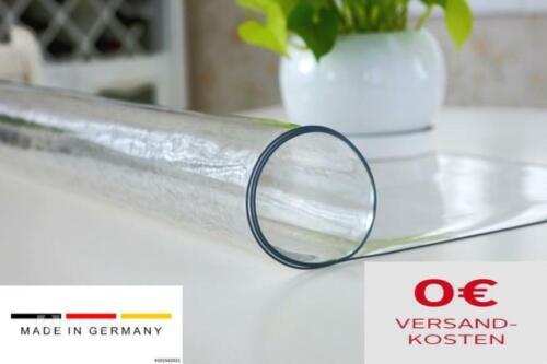 Tischfolie PVC 2,2-2,5 mm stark Schutzfolie Transparent Tischdecke in 5 Breiten