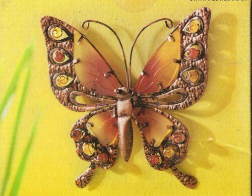 Wanddekoration  Schmetterling 39 cm  cm aus Metall /& Glas-Elementen