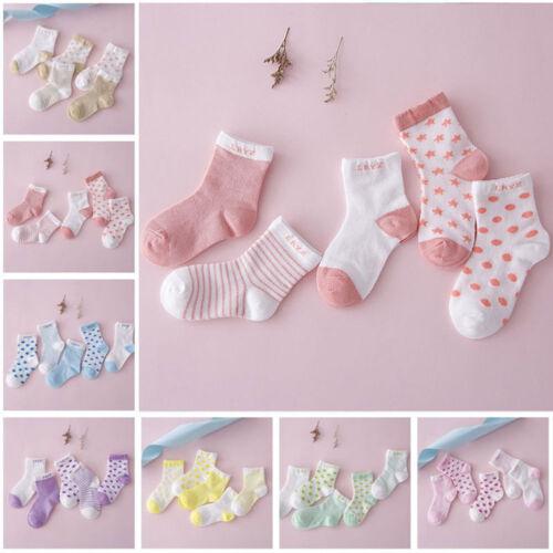 5 Pairs Kids Baby Boy Girl Cartoon Soft Cotton Socks Infant Toddler Ankle Sock
