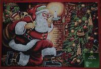 Santa Claus Rugchristmas Treetoysholiday Matfireplacecandlewinternew