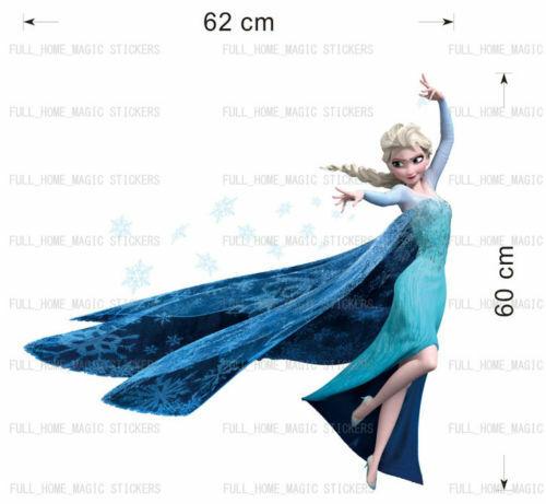 Frozen Elsa Wall Stickers Art Decal Mural Girls Childs Kids Room Home Decor