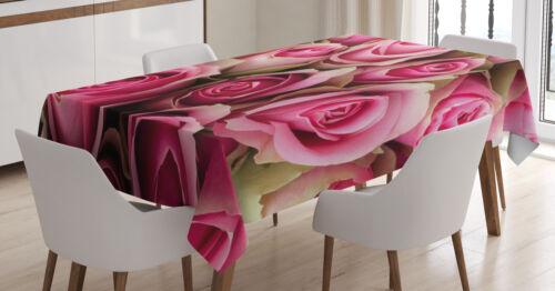 Frische Festliche Soft-Braut Maschienenwaschbar Rose Tischdecke