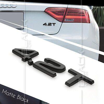 4.2 Quattro V8 Body Side /& Rear Trunk Emblem Badge Set For AUDI A6 A8 Q7 Quattro