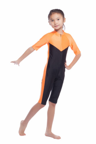 1 Pcs Full Cover Swimsuit Child Baby Kids Girls Swimwear Muslim Modest Beachwear