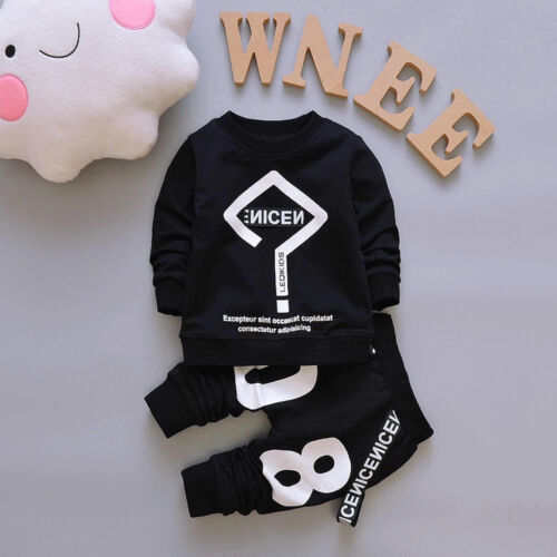 Toddler Kids Boy Outfits T-shirt Tops+Long Pants Tracksuit Clothes 2PCS//Set in