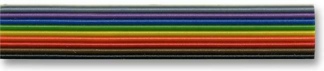 RIBBON CABLE 7/0.2 10 WAY 10M CABLE/WIRE RIBBON - CC88588