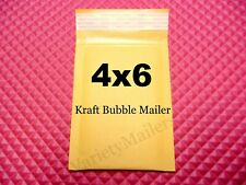 15 Small Kraft Bubble Envelopes 0000 4x 6 Padded Shipping Mailers 4x6