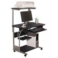 Desk Computer Table W/ Printer Shelf Home Office Study Student Furniture