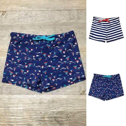 Children Boys Striped Print Stretch Beach Seaside Casual Swimwear Pants Shorts