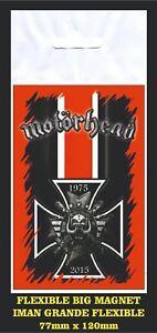 MOTORHEAD-LEMMY-MEDAL-FLEXIBLE-BIG-MAGNET-IMAN-GRANDE