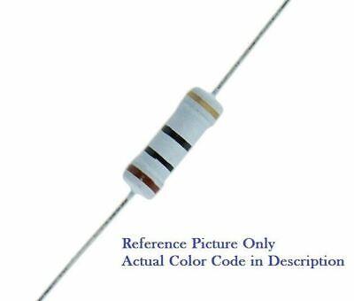 200Pcs 2W 2.7 Ohm 5/% Tolerance Metal Oxide Film Resistor Axial Lead Silver Tone