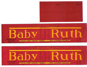 Wood-era-BABY-RUTH-red-boxcar-HO-scale-printed-reefer-sides